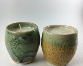 Lavender handmade candle  cups
