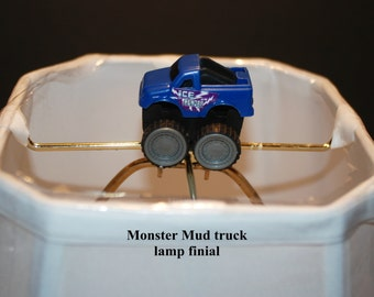 Monster Truck  Lamp Shade Finial ...Handcrafted...assorted styles and colors