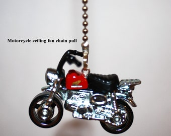 Motorcycle ceiling fan chain pull
