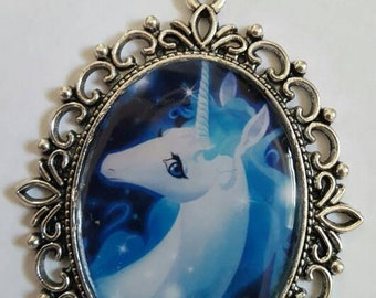 The Last Unicorn cameo necklace