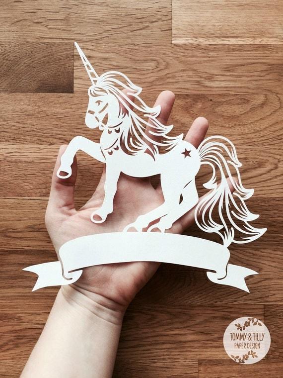 banner unicorn svg    pdf design papercutting vinyl template