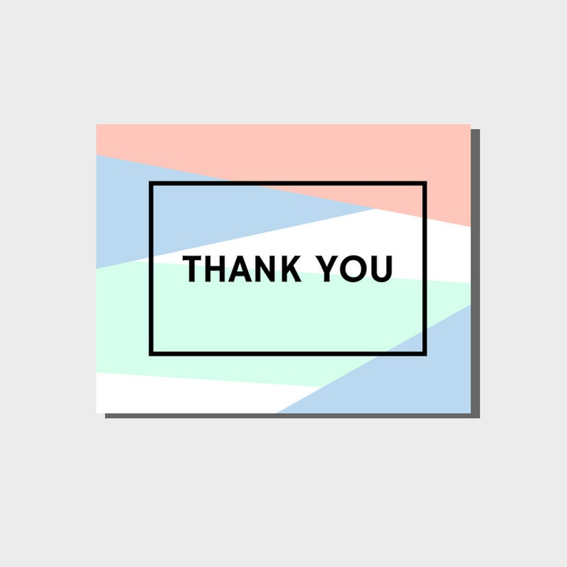 Professional Thank You Cards Bulk Modern Simple Greeting Card Set – Bulk Wedding Thank You Cards