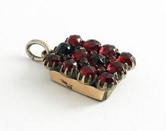 1920s Red Bohemian Garnet Fob Petit Charm