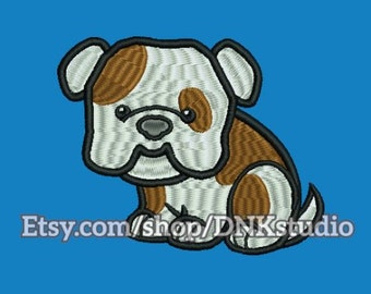 Cute Dog Pitbull Embroidery Design - 4 Sizes - INSTANT DOWNLOAD