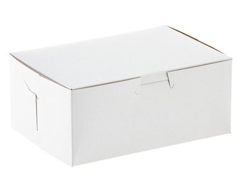 50 Bakery Cookie Pastry Box 8 x 5 x 3  White Wedding Shower Party Favor Box