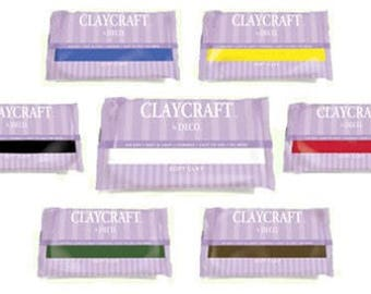 Air drying lightweight polymer clay ClayCraft by Deco Different Colours