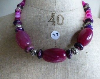 Necklace of pink and purple