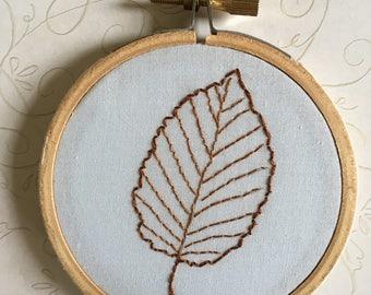 Tiny Leaf embroidery