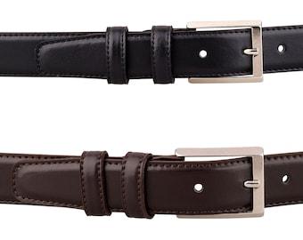 Mens belt Leather belt Mens leather belt Brown leather belt Black leather belt Silver belt buckle Husband gift Handmade belt Thin belt