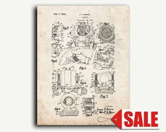 Patent Print - Vibrator Patent Wall Art Poster