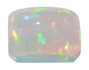 Ethiopian Welo Opal Loose Gemstone Octagon Cabochon Cut 1A Quality 7x5mm TGW 0.60 cts.