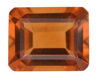 Santa Ana Madeira Citrine Loose Gemstone Octagon Cut 1A Quality 10x8mm TGW 3.00 cts.