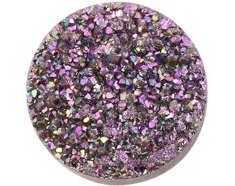Pink Dawn Drusy Loose Gemstone Round Cabochon 1A Quality 10mm 1.50 cts.