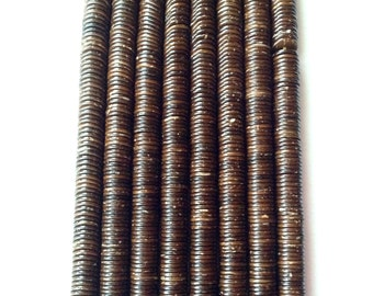 10mm coconut shell disk beads dark chocolate brown sustainable eco friendly