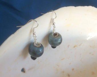 Misty blue earrings