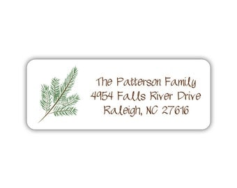 Christmas return address labels (30) - Holiday return address labels - Christmas address labels (CH017)