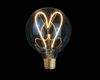 4W E27 LED Love Heart Edison Globe Light Bulb 220V - Edison bulb - led lamp - modern lamp - modern light - home decor - ampoule edison