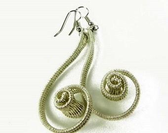 Deirdre woven earrings in sterling silver