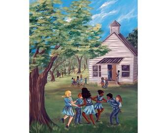 Old Schoolhouse Original Acrylic Painting