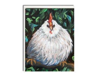 Chicken Notecard - Chicken Card - Chicken Stationery