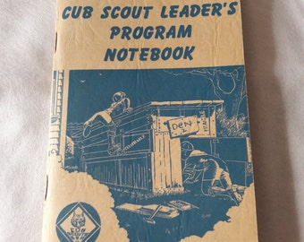 Vintage Cub Scout Leader's Program Notebook 1950 - 1951