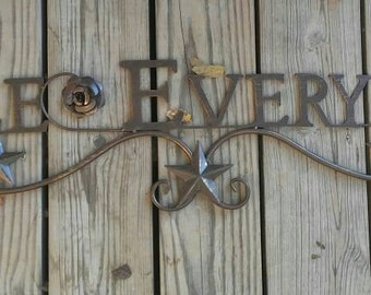 Smile every day metal wall decor