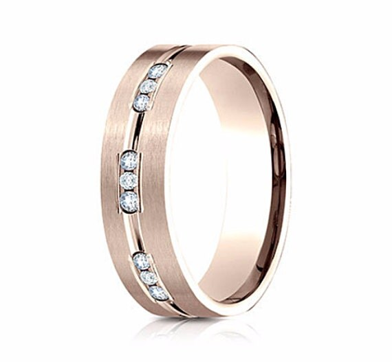 wedding band mens rose gold zoom