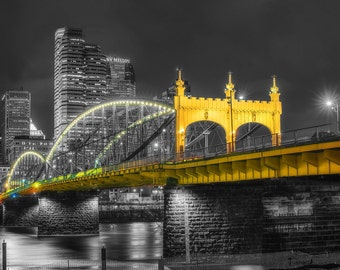 Selective Color of the Smithfield Street Bridge in Pittsburgh - Various Prints