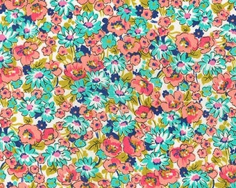 London Calling 6, Cotton Lawn Fabric by the Yard, Floral Fabric, Robert Kaufman, Apparel Fabric, Quilt Fabric, Floral Cotton Lawn, L1940004