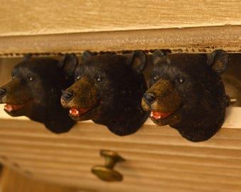 Bear Drawer Knob. Bear Knob. Bear Drawer Pull. Dresser Knob. Furniture Knob. Cabinet Knob. Cabin Decor. Hunting Lodge Decor. Bear Decor.