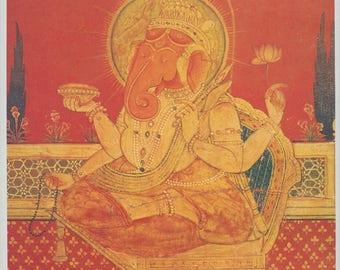 Ganesh ... Indian Painting printed reproduction, 1998