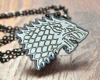 Stark Wolf Game of Thrones Cosplay Necklace