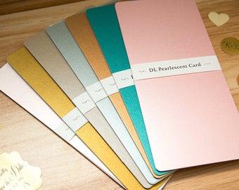 perlglanz-karte a6 größe leer einladung papier handwerk., Einladung