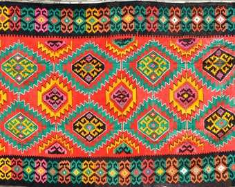 Antique Palace, lint-free handmade Sumy from Uzbekistan, 0338-2