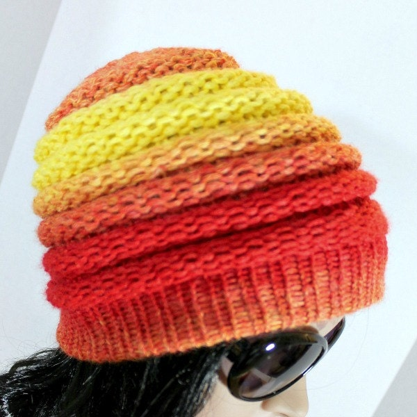 Loom Knit Rib Stitch Hat : Loom Knit Hat Patterns Ombre Beanie Pattern for Extra Large
