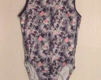 Cute Puppy Dog Gymnastics Leotard