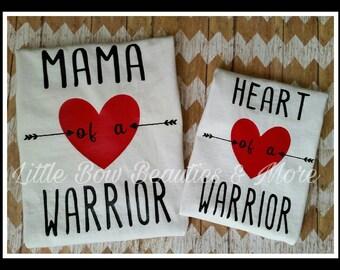 CHD Awareness Mama & Me Heart Warrior Tees