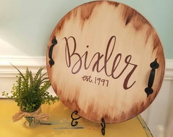Hand painted Distressed Wooden tray, personalized tray, decorative tray, farmhouse  decor, Rustic tray, vintage style,Southern style