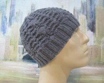 Men's Hat Pattern 'Benny', Men's Knitted Hat Pattern, winter hat, beanie hat