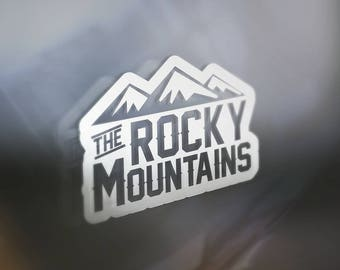 Rocky Mountain Sticker For Car Window, Bumper, Or Laptop