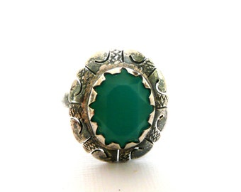 Vintage Mexican Sterling Silver Ring, 5 1/4