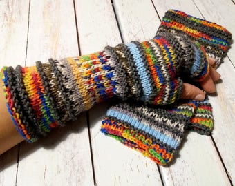 knit fingerless gloves, knit fingerless arm warmers, fingerless mitts, wrist warmers, hand warmers, knit gloves, mittens, made to order