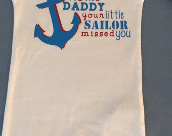 Navy Homecoming onesie for Baby