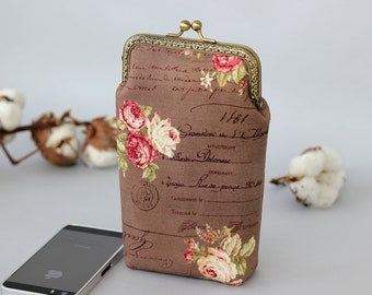 Rose gold wallet etsy iphone 8 wallet rose gold floral iphone 7 wallet case roses wallet iphone 8 negle Choice Image