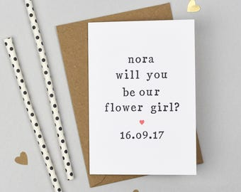 Will you be our Flower Girl? Personalised Card - Asking Flower Girl Card - Flower Girl Card - Bridal Party Card - Wedding Card