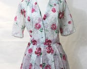 Plus size vintage floral day dress by Lintern