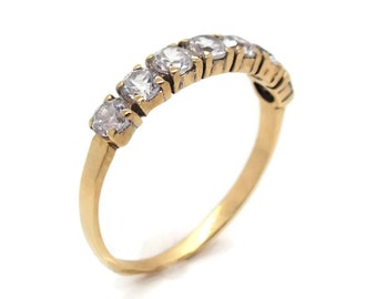 Cubic Zirconia Band, Half Eternity Band, Gold Cubic Zirconia, Stacking Ring, CZ Ring, Eternity Band, Gold Eternity Ring, Eternity Band Ring