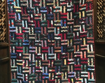 Antique quilt made from ties