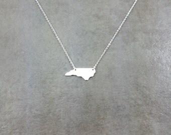 North Carolina State [SILVER] Plated Necklace Gift Box Panthers Duke Appalachian Mountains University East Coast United States