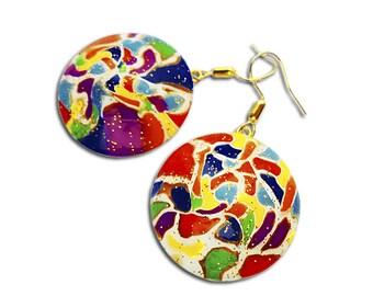 Rainbow earrings, Multy color earrings, Lentil beads, Gay pride, Colorful earrings, LGBT,  Lesbian earrings, Summer earrings, Cool earrings